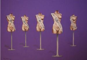 Miss Universe ulje na platnu 100 70 cm