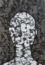 Iva Habus: '' Bez lica 1 '', 2012., akril - grafit - tuš na papiru, 70 × 50 cm