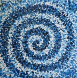 Boris Demur: '' Manifestacija spirale '', 2012., akril na platnu, 90 × 90 cm
