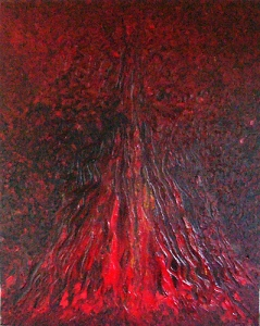 Boris Pecigoš: Moj voljeni vulkan, 2007, akrilik na platnu, 100 × 80 cm