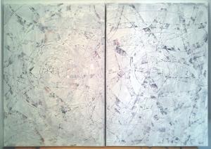 Boris Pecigoš: Odlučio sam da te volim, 2013, akrilik na platnu ( diptih ), 70 × 100 cm70 × 100 cm