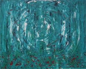 Boris Pecigoš: Ogledalo, 2011, akrilik na platnu, 80 × 100 cm
