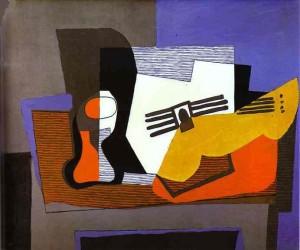 Pablo Picasso, Mrtva priroda s gitarom, 1922., ulje na platnu, Luzern, Kolekcija Rosenberg