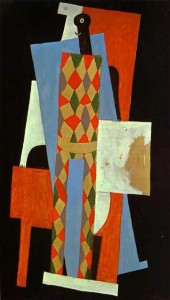 Pablo Picasso, Harlekin, 1915., ulje na platnu, New York, Museum of Modern Art