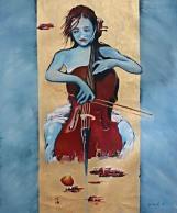 Chello, 60 x 50 cm, ulje - akrilik na platnu, 2015.