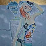 Persephone, 60 x 45 cm, ulje i akril na platnu, 2012.