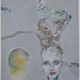 Snovi posljednje bosanske kraljice, 70 x 50 cm, kombinirana tehnika, 2012.