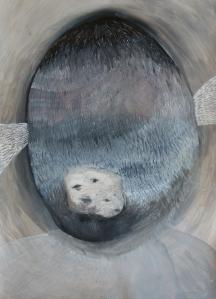 Ivana Bajcer, Preobraženje 1, crtež - kombinirana tehnika, 2016.