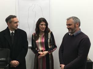 Veleposlanik Gordan Markotić, Maja Milošević i Petar Hranuelli