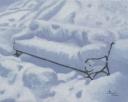 Andreja Dujnić, ''Klupa pod snijegom'', ulje na platnu, 2007.