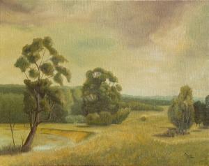 Andreja Dujnić, ''Lonjsko polje'', ulje na platnu, 2007.