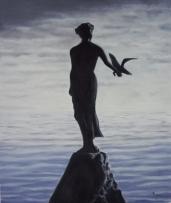 Andreja Dujnić, ''Pogled prema pučini'', ulje na platnu, 2013.