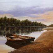 Andreja Dujnić, ''Sam na obali'', ulje na platnu, 2016.