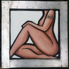 Nikolina Ivezić, ''Memo'', kombinirana tehnika, 50 x 50 cm