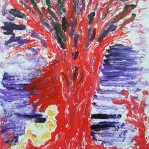 Boris Pecigoš, Šumski bard, akril na papiru, 65 x 50 cm