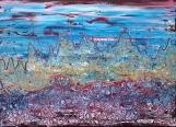 Boris Pecigoš, I wanna go to Marz, akril na platnu, 50 x 70 cm