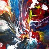 Denis Kaplan: Ispovijedi 21, akril na platnu, 50 x 40 cm