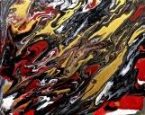 Denis Kaplan: Transfiguracije 25, akril na platnu, 50 x 40 cm
