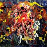 Denis Kaplan: Nebeska tijela 4, akril na platnu, 70 x 50 cm