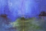 """Antonija Cesarec, """"Susret na pučini"""", diptih, akril na platnu"""