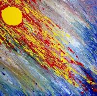 Denis Kaplan, ''Nebo i more / Cielo e mar'', akril na platnu
