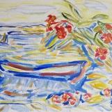 Maja Rajhenbah, ''Barka'', ulje na platnu