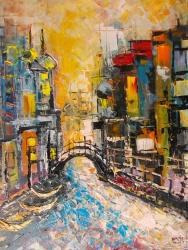 Petar Vidak, ''Venecija'', ulje na platnu