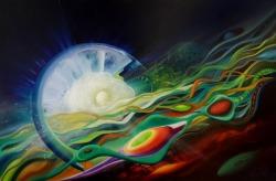Dražen Pavlović, 15. SPHERE CE4 (creation ~ evolution), ulje na platnu, 100 x 150 cm