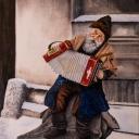 Anđelko Brkić, ''Ulični svirač'', ulje na platnu
