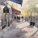Tihomir Cirkvenčić, ''Jesenje sjene'', akvarel