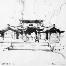 Alfred F. Krupa, crtež tušem