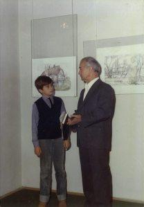 Afred Freddy Krupa sa djedom Alfredom Josephom Krūppom