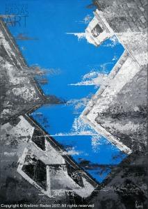 Krešimir Radas, ''Prema nebu'', akril na platnu, 70 x 50 cm