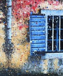 Krešimir Radas, ''Tufinavije škure'', akril na platnu, 60 x 50 cm