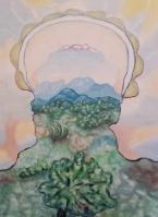 Stjepan Perković, ''Uzvišene planine'', ulje na platnu, 70 x 50 cm