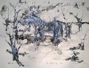 Alfred Freddy Krupa, ''Konj na proljetnoj paši'', crtež