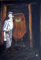 Anđelko Brkić, ''Sjećanja'', ulje na platnu, 70 x 50 cm