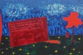 Boris Pecigoš, ''Zla kob'', akril na platnu, 80 x 120 cm