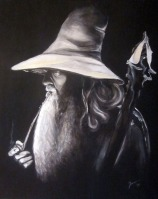 Ivana Kolić, ''Gandalf Light'', tempera na platnu, 40 x 50 cm