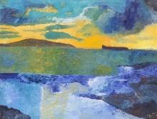 """Luka Koščak, """"More"""", ulje na platnu, 90 x 100 cm"""