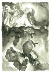 Marija Kruljac, ''Marina kletva'', tuš / akvarel, 39 x 26 cm