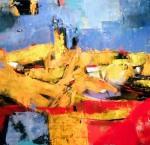 """Višnja Peter, """"Jeruzalem"""", ulje na platnu, 60 x 80 cm"""