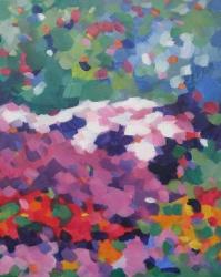 Tatjana Kreštan, ''Cvjetne slagalice'', ulje na platnu, 50x40 cm
