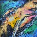 ''Ljetne impresije 2'', boja za staklo na pleksiglasu