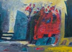 Ana Cerovski, ''Novi početak'', kombinirana tehnika, 50x70 cm