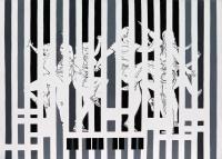 Antonija Cesarec, ''Ritam disca'', akril na platnu, 50x70 cm