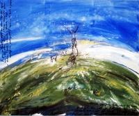 Jelena Martinović, ''Sveto brdo'', akril na platnu, 100x120 cm