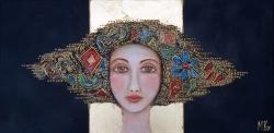 Miroslava Kos, ''Marta'', akril na platnu, 30x60 cm