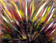 "Denis Kaplan, ""Paun varijacije 1"", akril na platnu, 70x90 cm"