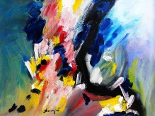 Mladen Žunjić, ''Proljetne boje'', ulje na platnu, 55x75 cm